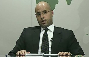 gadafi's-son-onTV-latest-news-libya-protests-2011