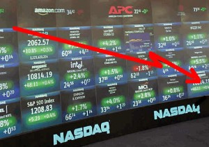 Business news, US stocks down