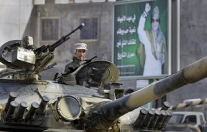 Gaddafis soldier fight in Libya